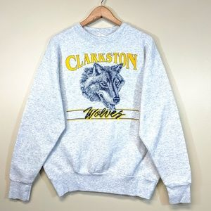Vintage 80's Clarkston Wolves Fleece